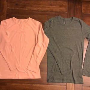 Gap + Mod Bod long sleeved t-shirts